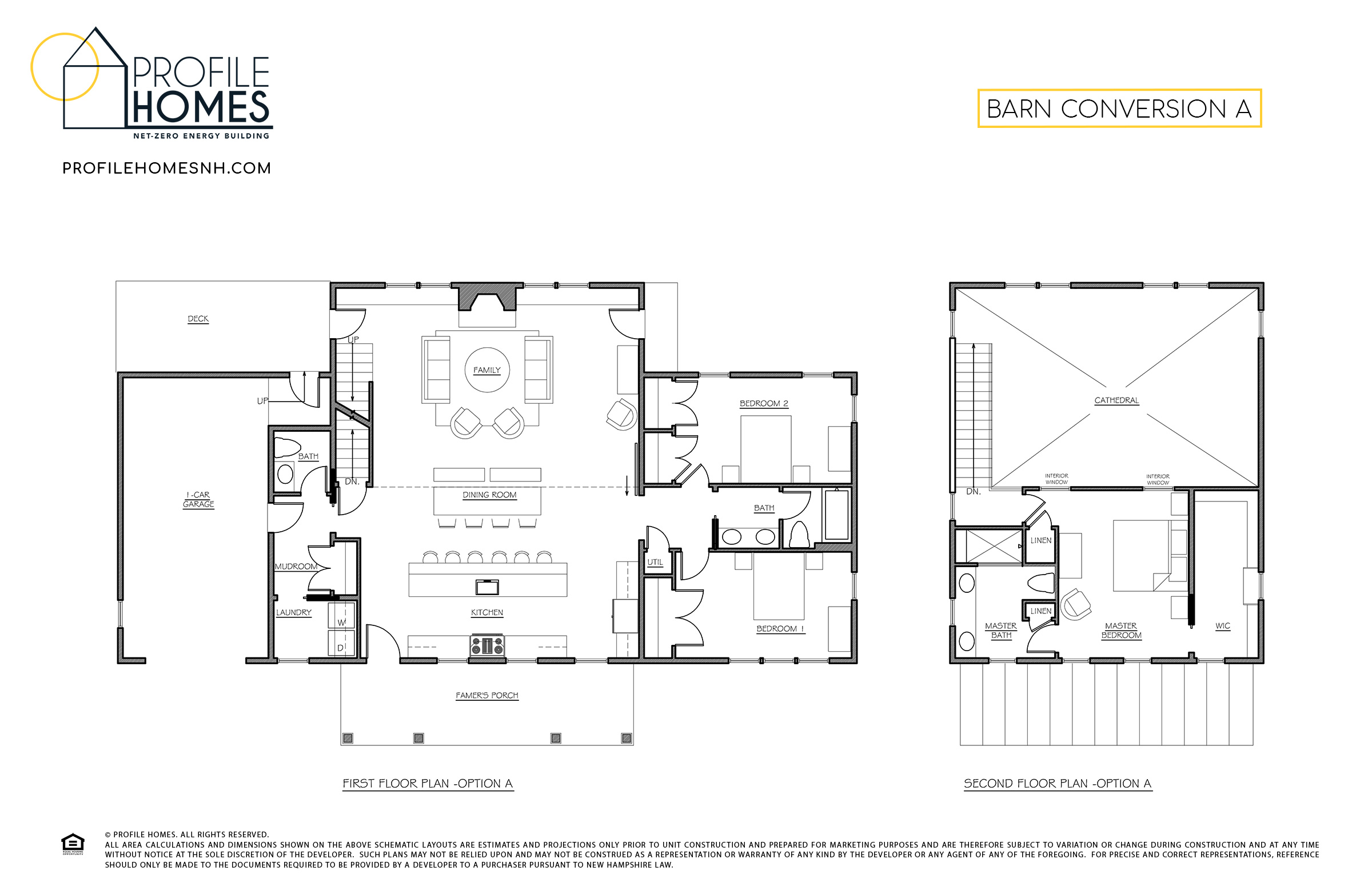Profile Homes Floorplans Barn Conversion A © 2018 Profile Homes