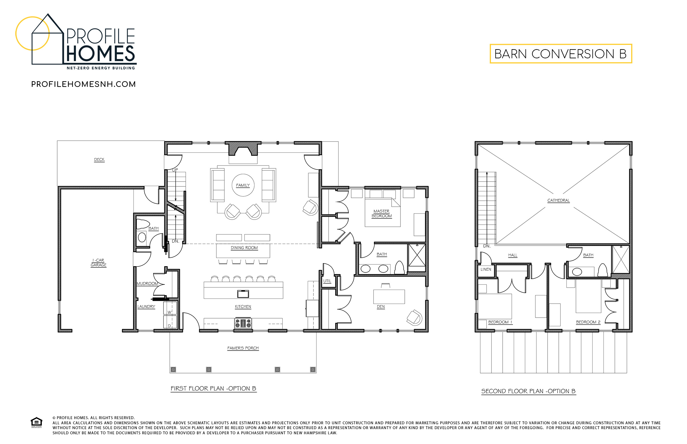 Profile Homes Floorplans Barn Conversion B © 2018 Profile Homes