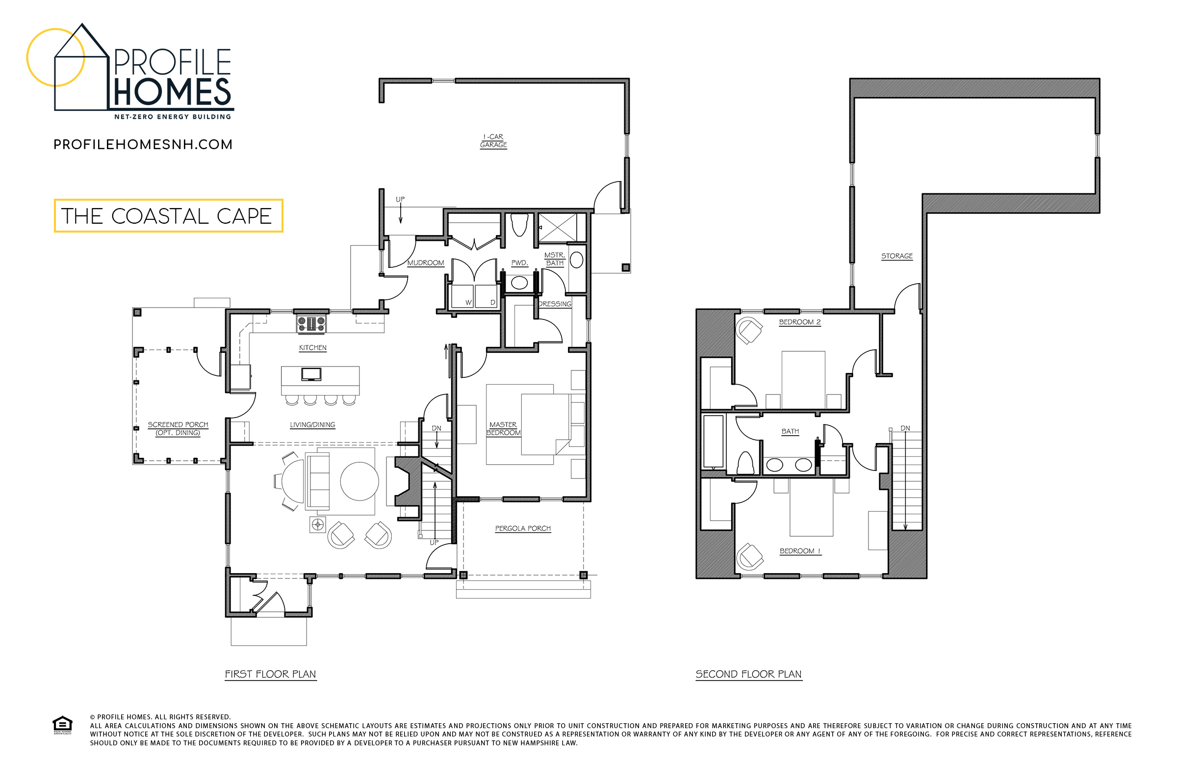 Profile Homes Floorplan Coastal Cape © 2018 Profile Homes