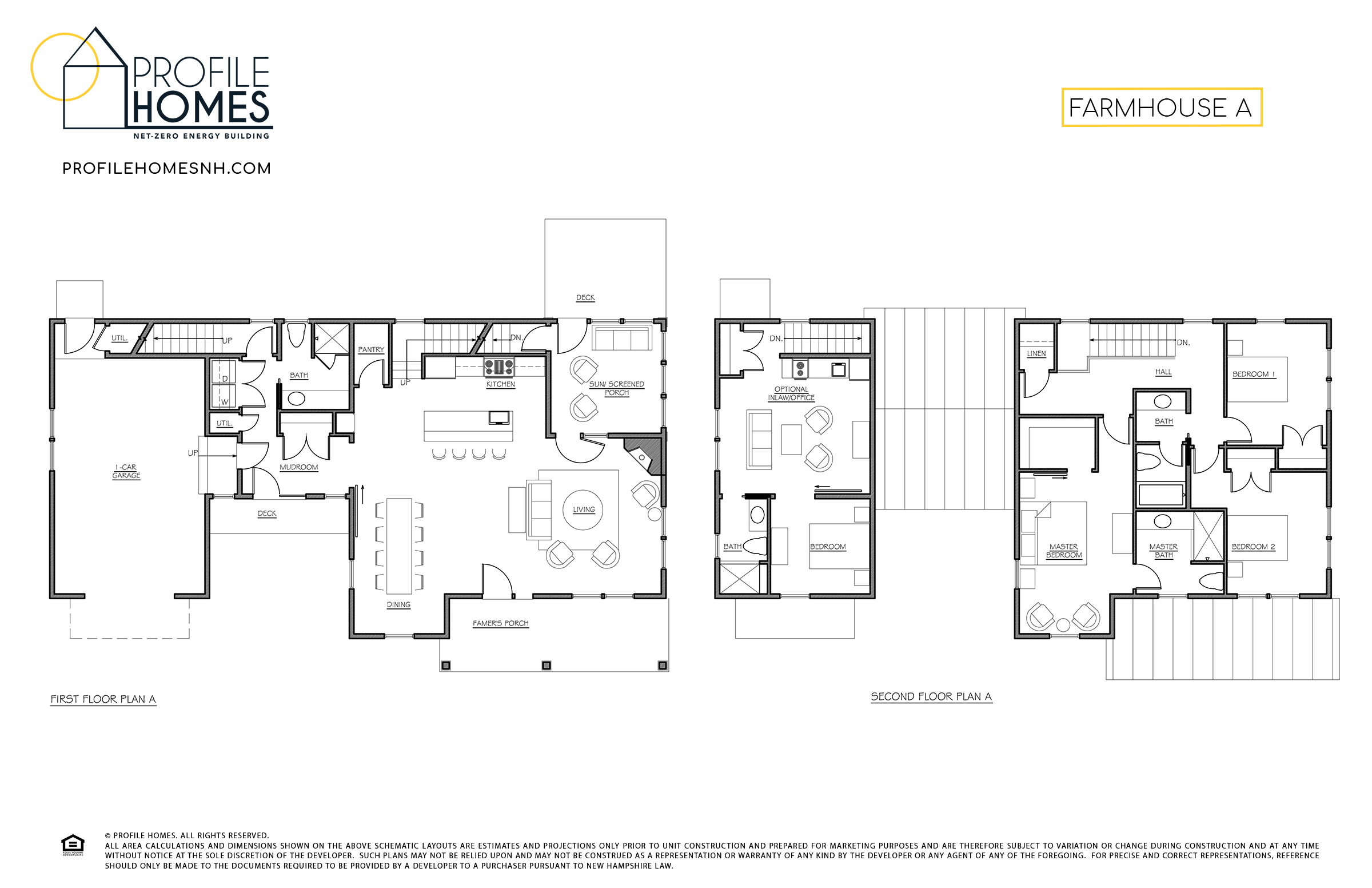Profile Homes Floorplan Farmhouse A © 2018 Profile Homes