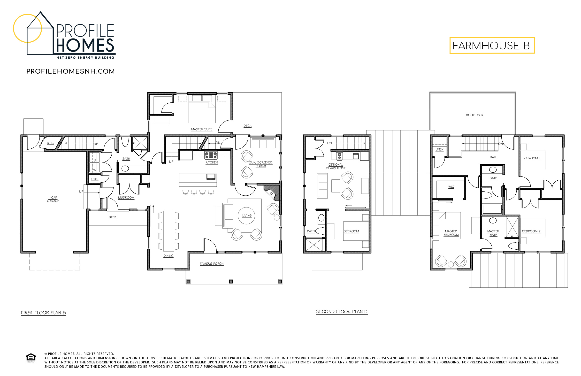 Profile Homes Floorplan Farmhouse B © 2018 Profile Homes