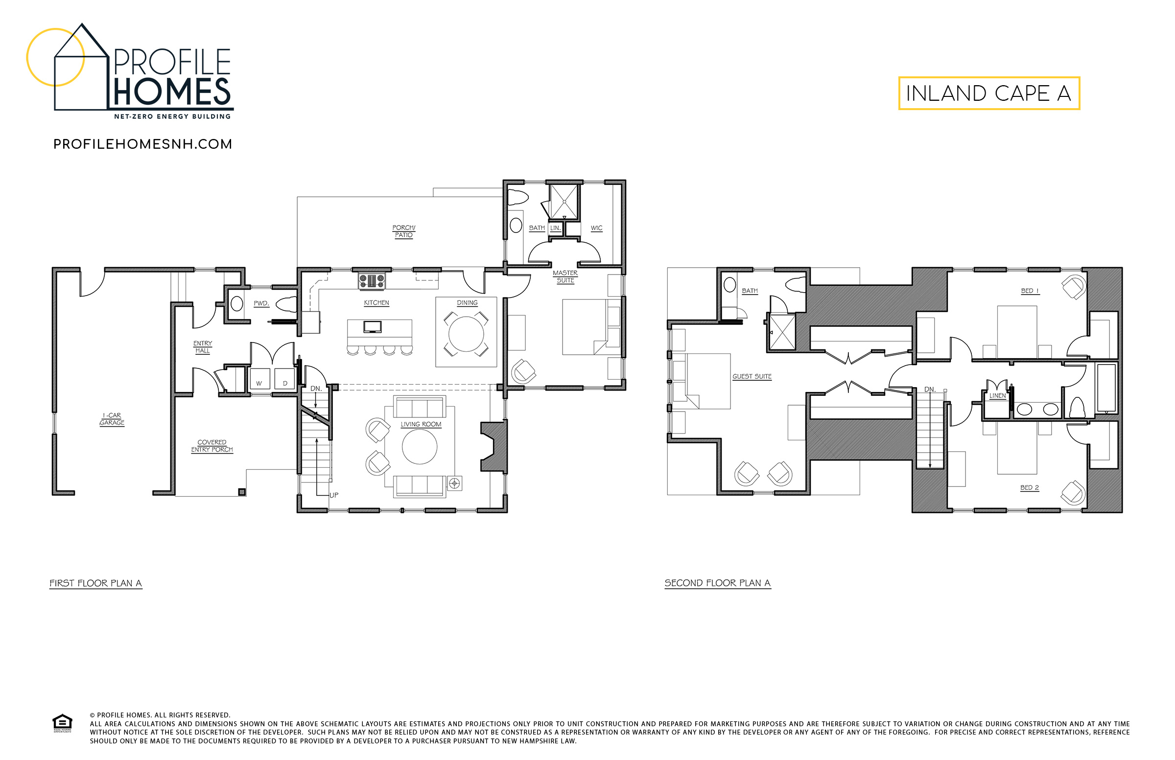 Profile Homes Floorplan Inland Cape A © 2018 Profile Homes