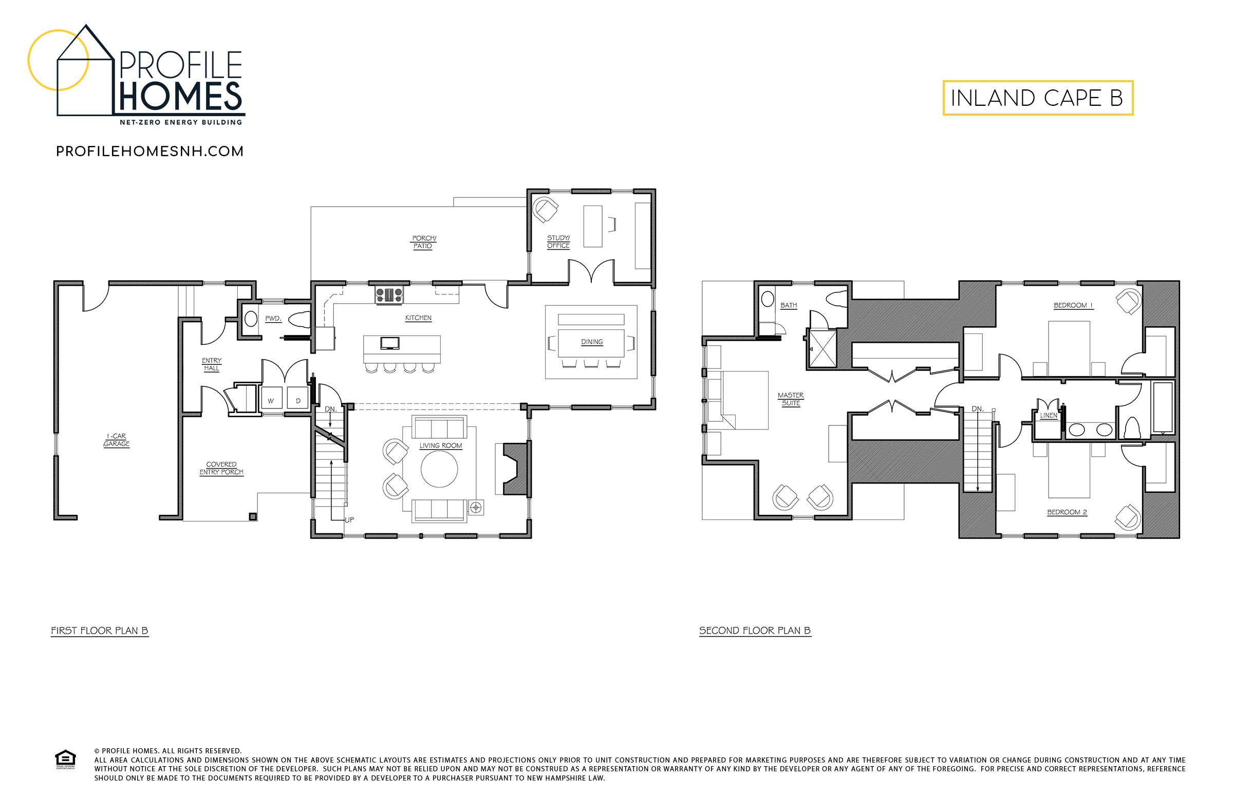 Profile Homes Floorplan Inland Cape B © 2018 Profile Homes
