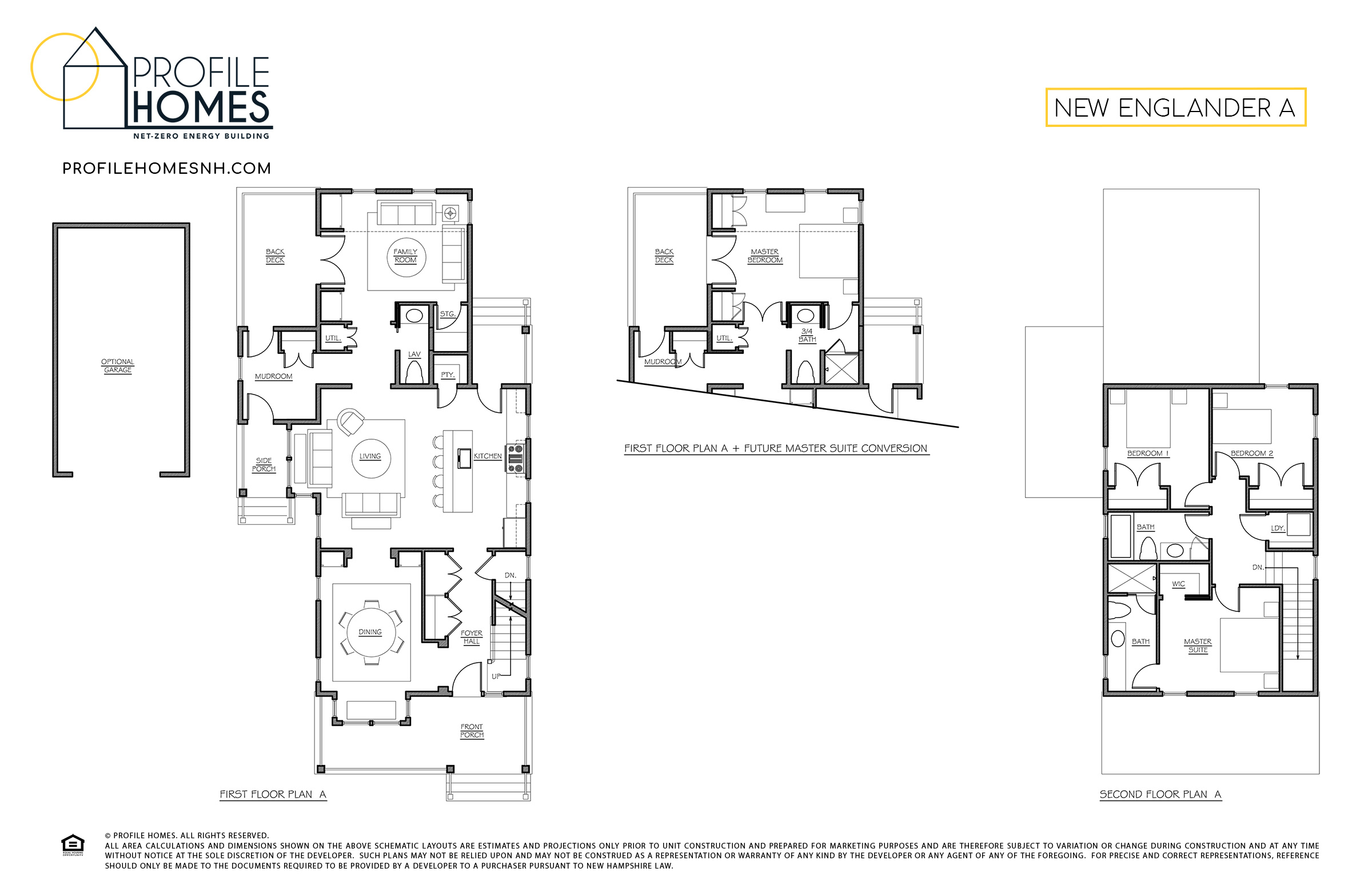 Profile Homes Floorplan New Englander A © 2018 Profile Homes