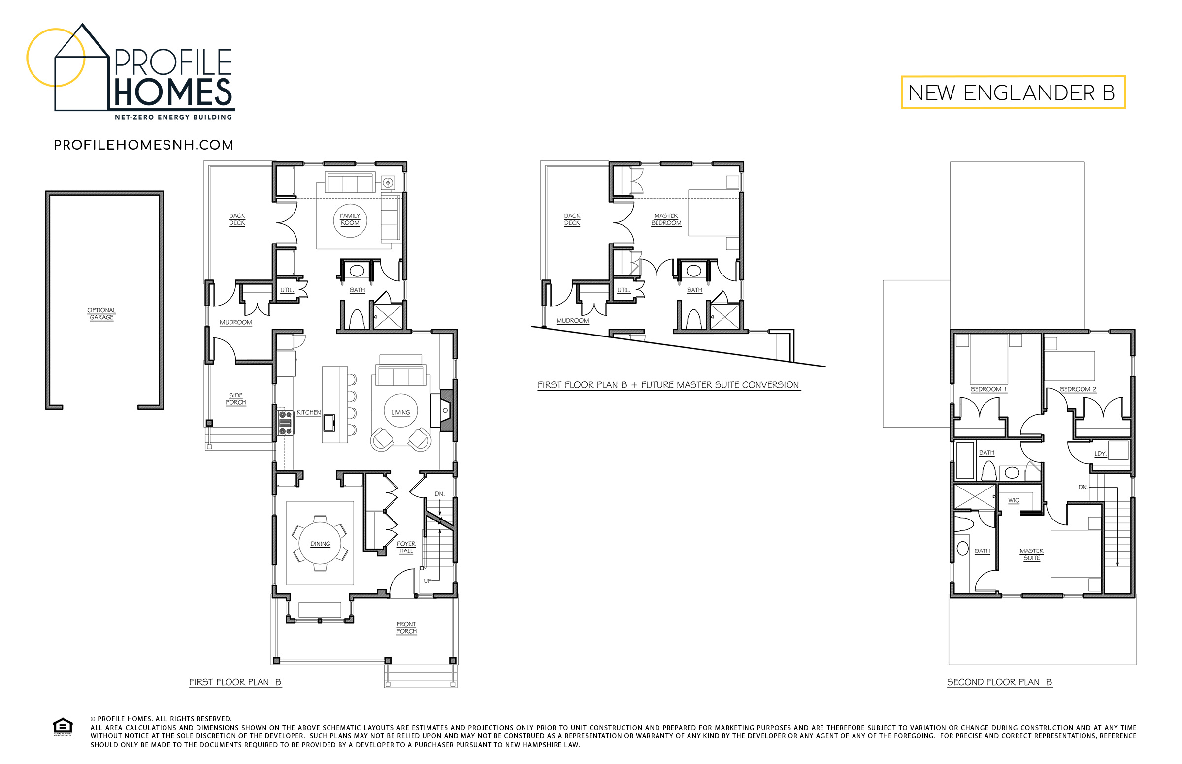Profile Homes Floorplan New Englander B © 2018 Profile Homes