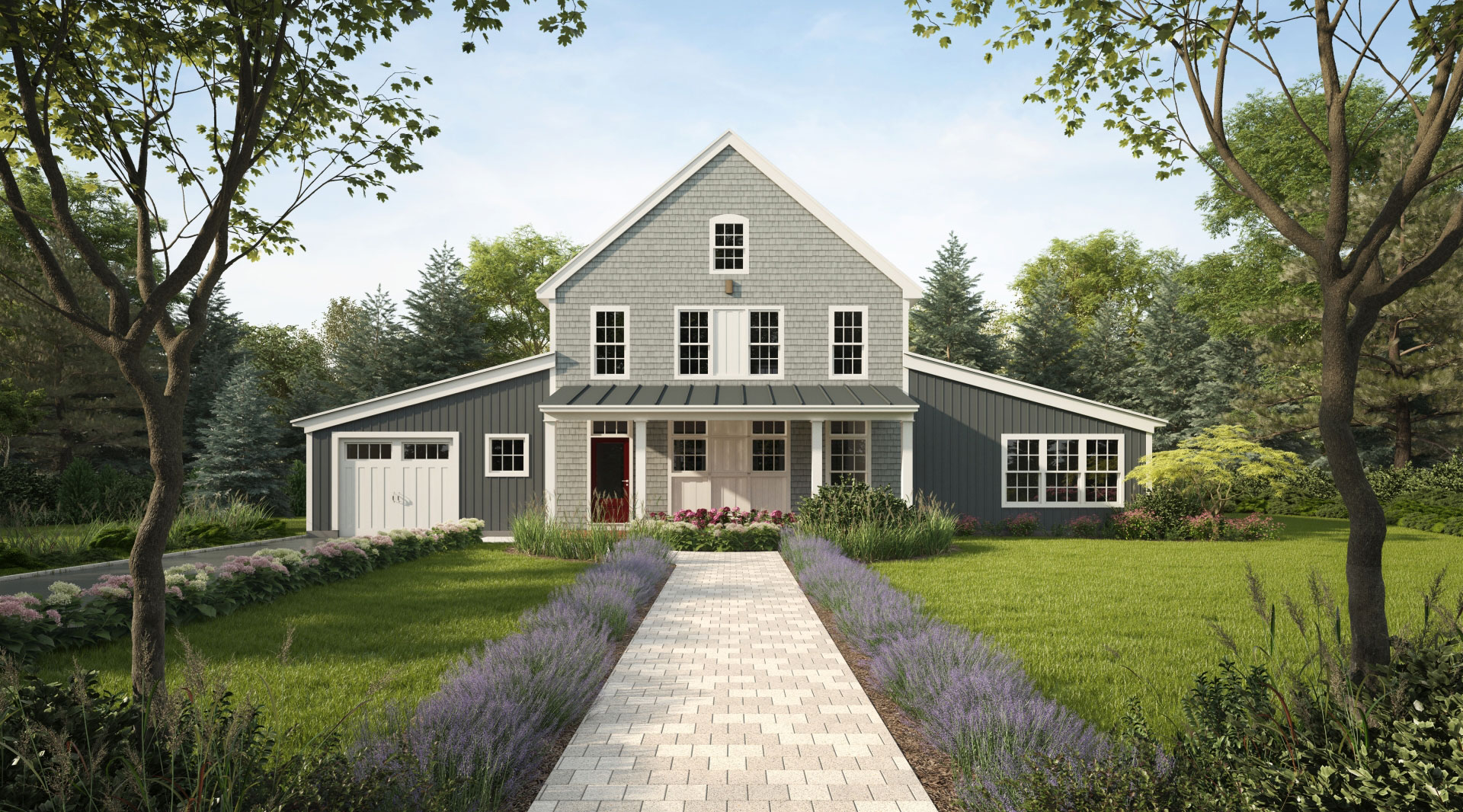 Profile Homes - Converted Barn Exterior Front © 2018 Profile Homes
