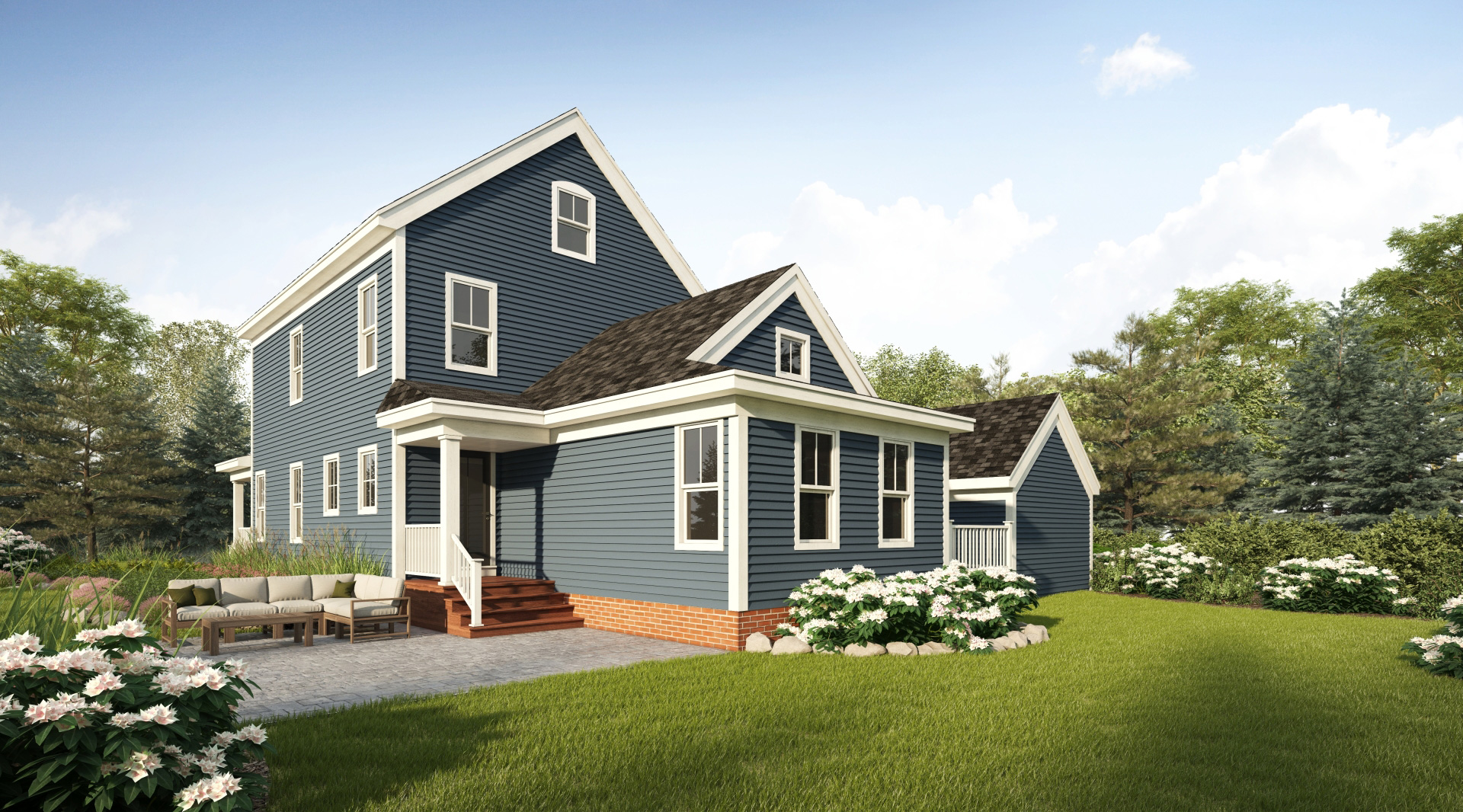 Profile Homes New Englander Exterior Back © 2018 Profile Homes