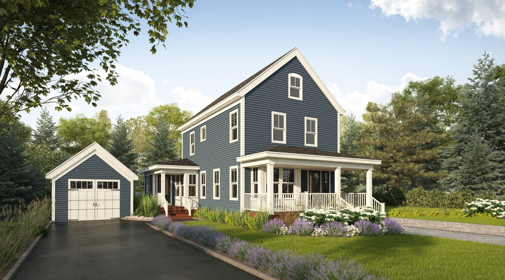 Profile Homes New Englander Exterior Front © 2018 Profile Homes