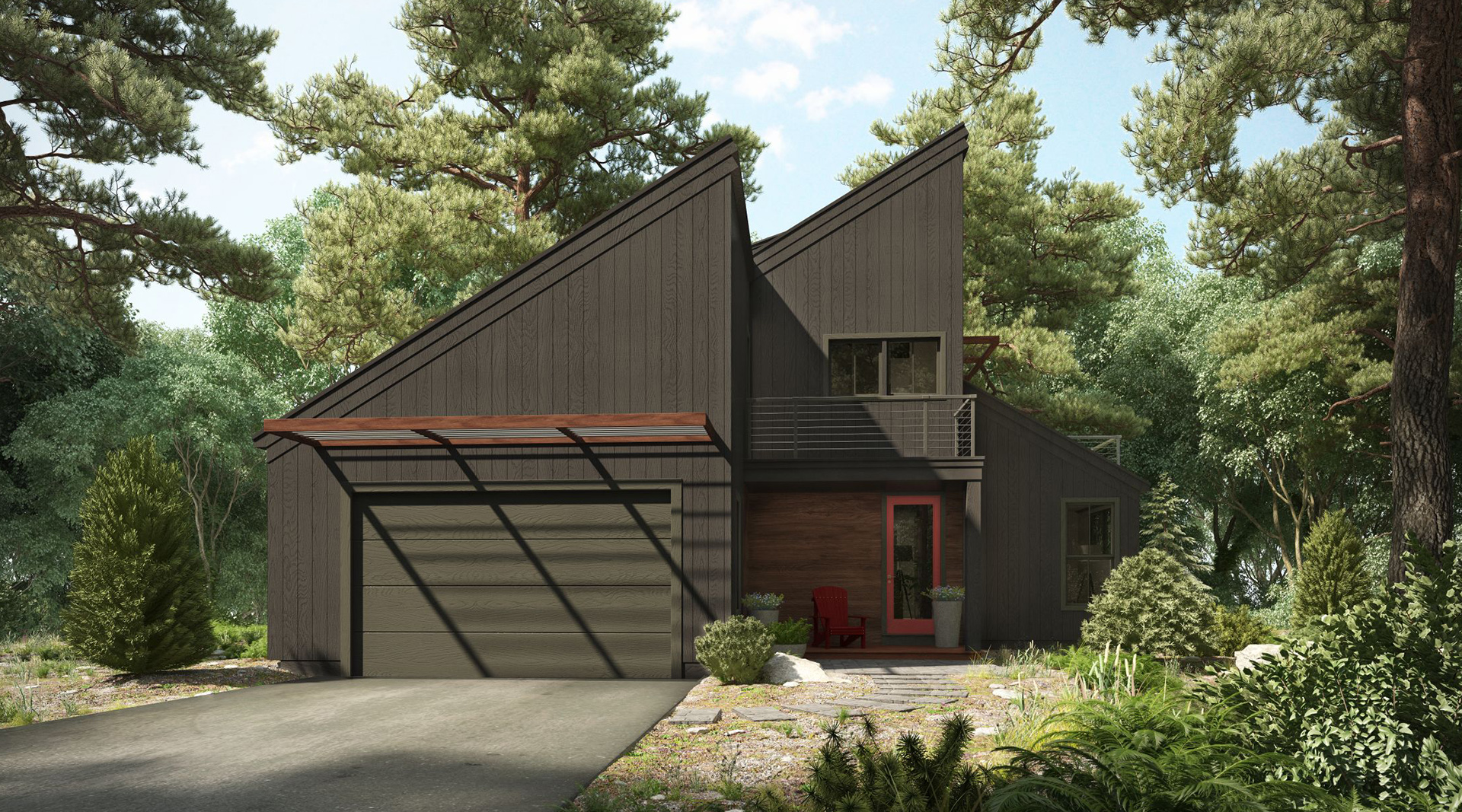 Profile Homes Modern Exterior Front © 2018 Profile Homes