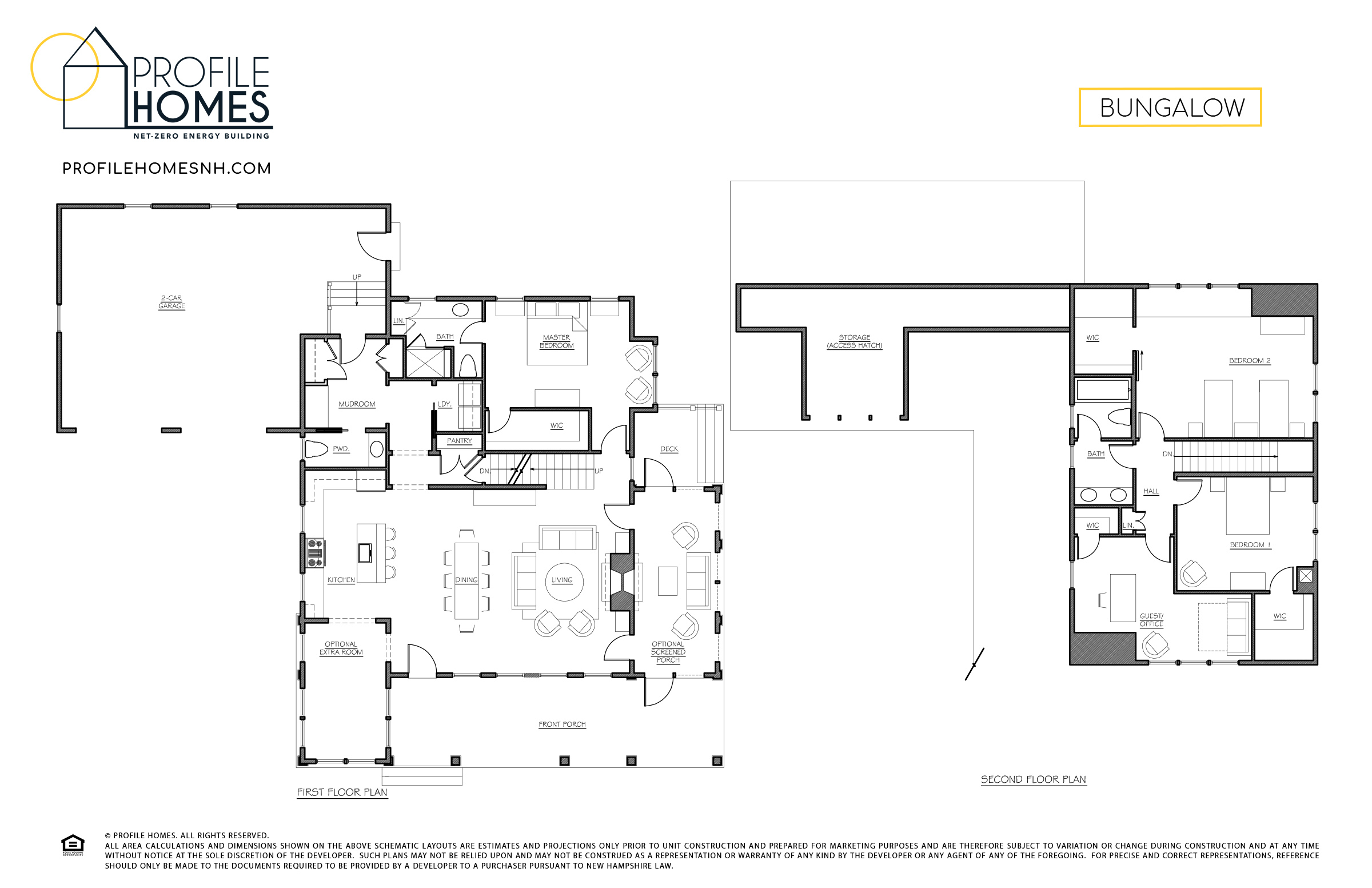 Profile Homes Floorplan Bungalow © 2018 Profile Homes