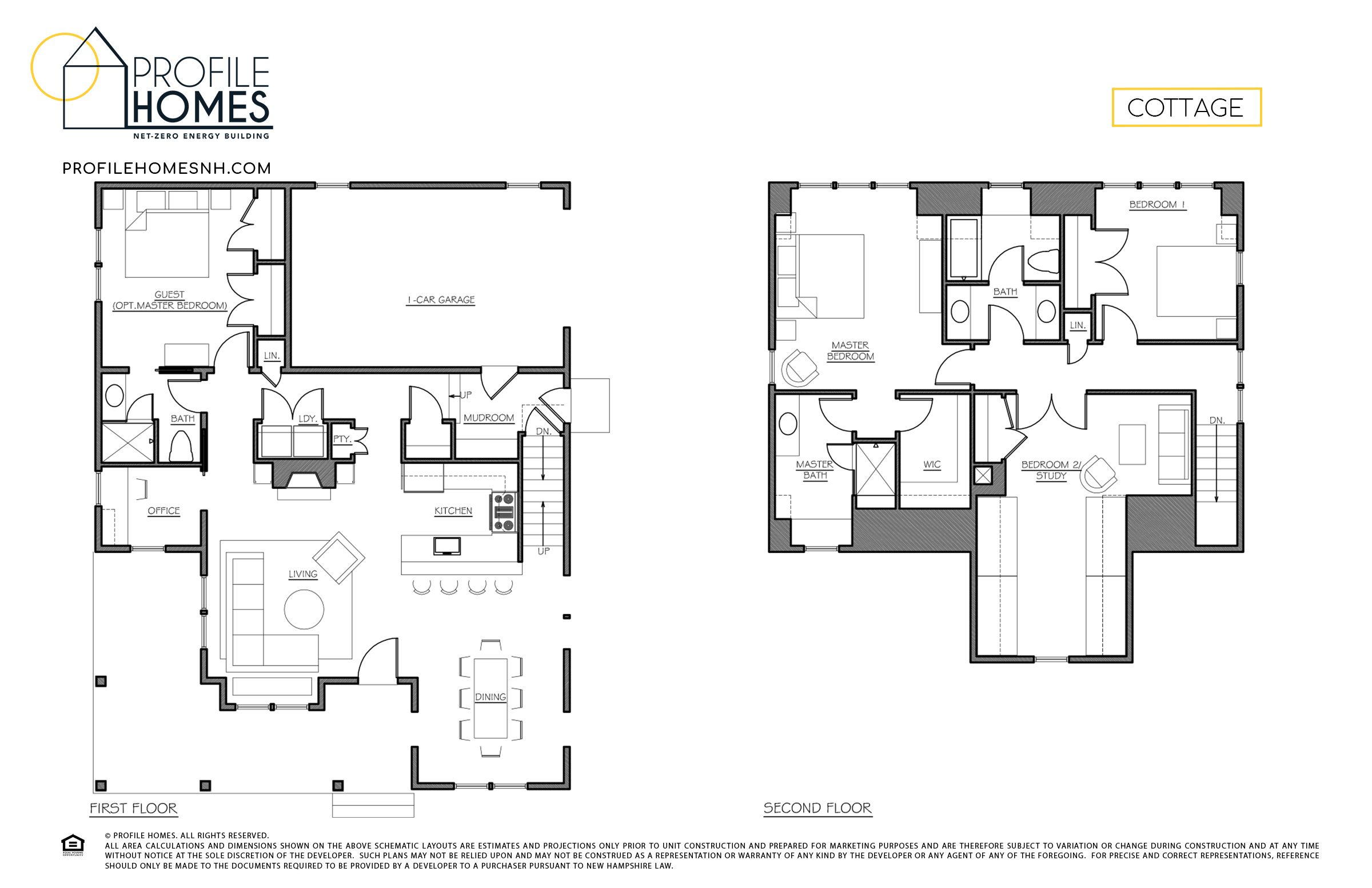 Profile Homes Floorplan Cottage © 2018 Profile Homes