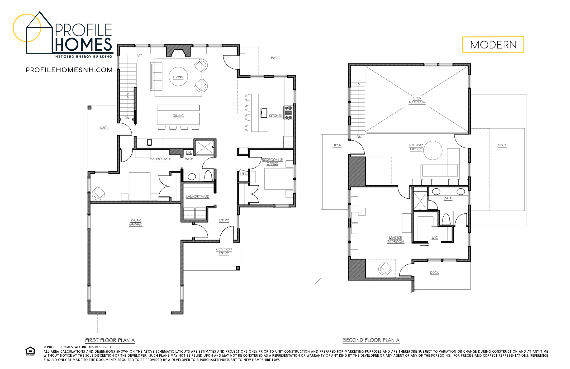 Profile Homes Floorplan Modern © 2018 Profile Homes